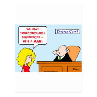 irreconcilable differences divorce postcard