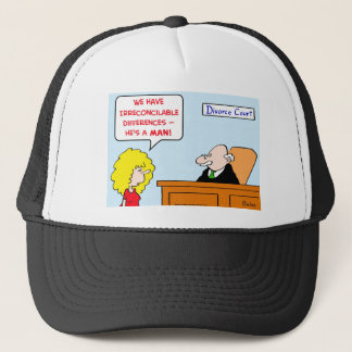 irreconcilable differences divorce trucker hat