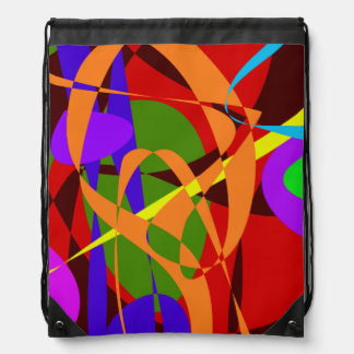 Irregular Abstract Forms and Lines Backpacks