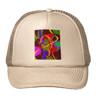 Irregular Abstract Forms and Lines Mesh Hats