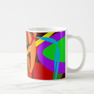 Irregular Abstract Forms and Lines Classic White Coffee Mug