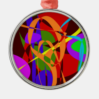 Irregular Abstract Forms and Lines Christmas Tree Ornament