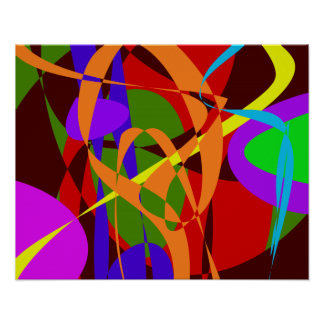 Irregular Abstract Forms and Lines Poster