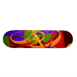 Irregular Abstract Forms and Lines Skate Board