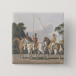 Irregular Cavalry, Bengal Army 1817, plate 5 from Pinback Button