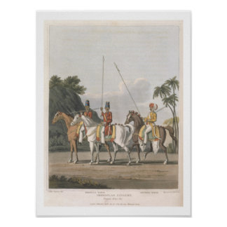Irregular Cavalry Bengal Army 1817 plate 5 from Poster