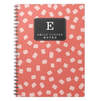 Irregular Dots Pattern Spiral Notebook