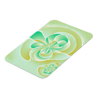Irregular floral shapes magnet