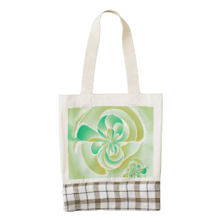 Irregular floral shapes zazzle HEART tote bag