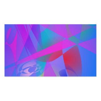 Irregular Forms Light Blue Abstract Business Card Template