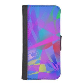 Irregular Forms Light Blue Abstract Phone Wallet
