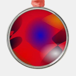 Irregular Forms on the Red Background Christmas Ornaments