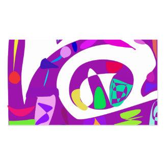 Irregular Forms Purple Business Card