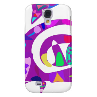 Irregular Forms Purple Galaxy S4 Cases