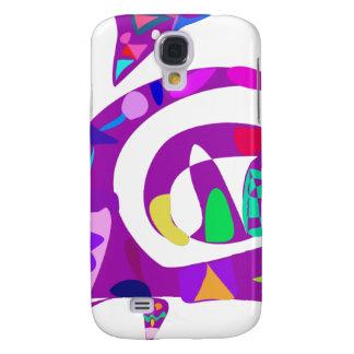 Irregular Forms Purple Samsung Galaxy S4 Cover