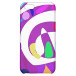 Irregular Forms Purple iPhone 5C Cases