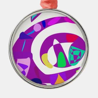 Irregular Forms Purple Christmas Tree Ornaments