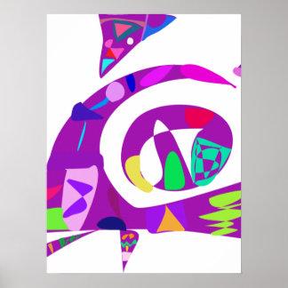 Irregular Forms Purple Poster