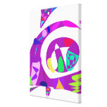 Irregular Forms Purple Stretched Canvas Print