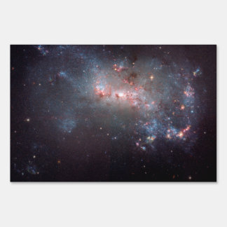 Irregular Galaxy NGC 4449 Caldwell 21 Lawn Sign