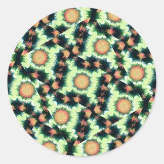 Irregular Geometric Pattern Classic Round Sticker