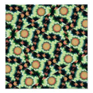 Irregular Geometric Pattern Poster
