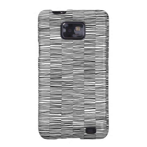 Irregular Lines - Black on White Samsung Galaxy S2 Cases