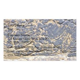 Irregular Rock Cliff Texture Business Card Template
