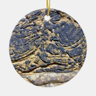 Irregular Rock Cliff Texture Christmas Tree Ornaments