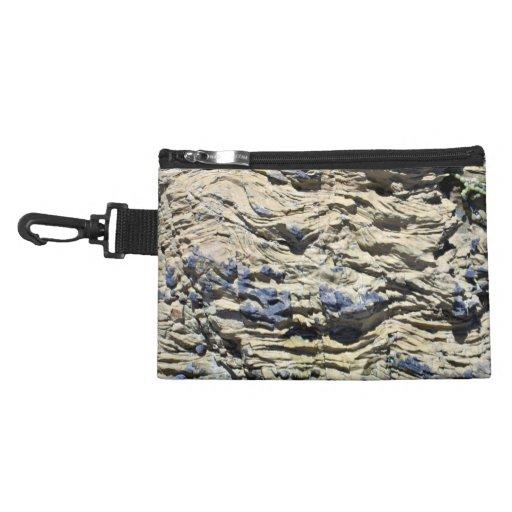 Irregular Rock Cliff with Swirls Pattern Accessories Bag