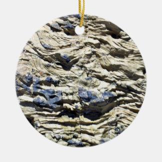 Irregular Rock Cliff with Swirls Pattern Christmas Tree Ornaments