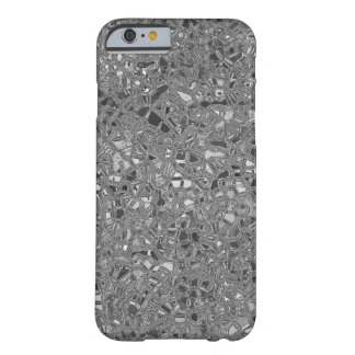 irregular shape pattern background silver barely there iPhone 6 case