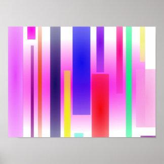 Irregular Stripes Poster