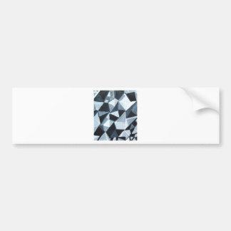 Irregular Triangle Pattern in Black and White Bumper Sticker