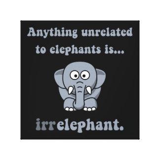Irrelephant Elephant Canvas Print