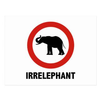 Irrelephant Postcard