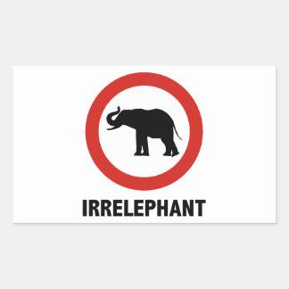 Irrelephant Rectangular Sticker