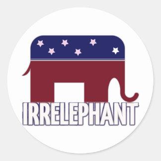 Irrelephant Classic Round Sticker
