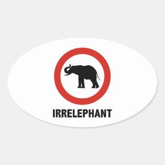 Irrelephant Oval Sticker