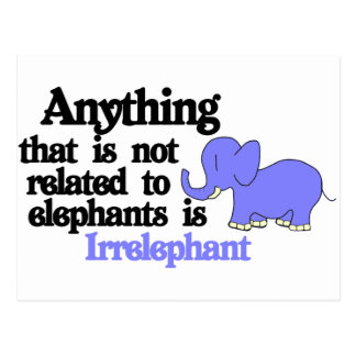 Irrelevant Elephant Postcard