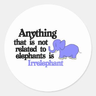 Irrelevant Elephant Classic Round Sticker