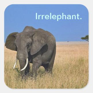 Irrelevant Elephant Square Sticker