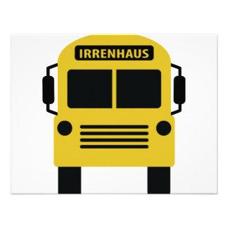 Irrenhausbus Invitation