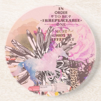 Irreplaceable, quirky kitsch girly art. coasters