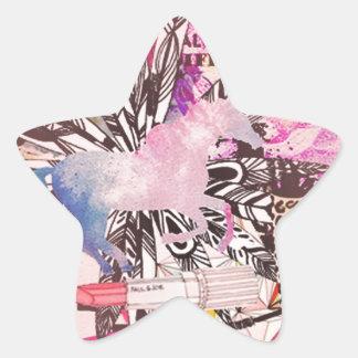 Irreplaceable, quirky kitsch girly art. star sticker