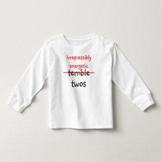 Irrepressibly energetic twos t-shirt