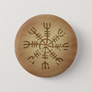 Irresistibility Old Icelandic Magic Charms Button