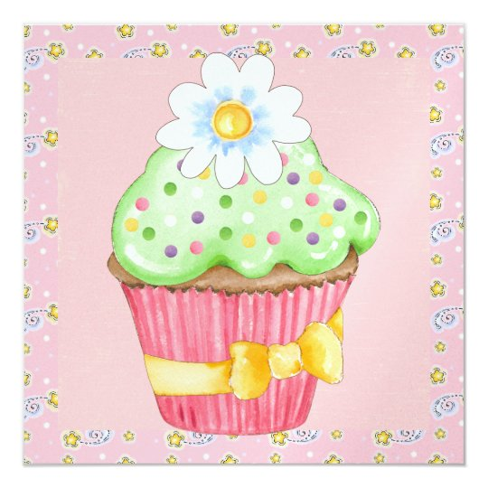 Irresistible Cupcake Invitations - SRF