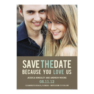Irresistible Request Photo Save The Date - Gray Card