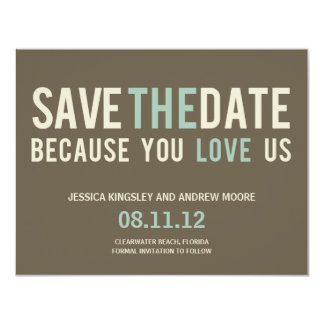Irresistible Request Save The Date Card - Gray